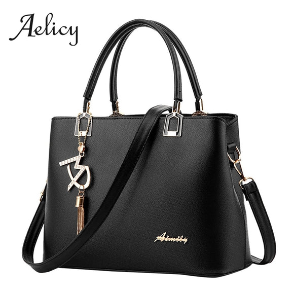 Aelicy Women Retro Square Tote Bags Leather Handbag Large Capacity Tassel Satchel Crossbody Single Shoulder Bag Fashion 2019