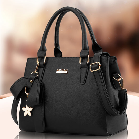 Shoulder Bag For Women 2019 Fashion Vintage Solid Leather Messenger Bag Ladies Totes Handbags Large Capacity Crossbody Bags