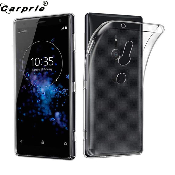 CARPRIE Soft TPU Silicone Gel Case For Sony Xperia XZ3  Protective Clear Transparent Mobile Phone Cover Cases 90122