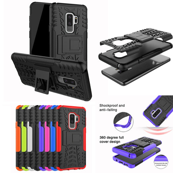 2018 Top Fashion Shockproof Heavy Duty Stand Case Skin Cover For Samsung Galaxy S9 Plus 6.2inch free Shipping