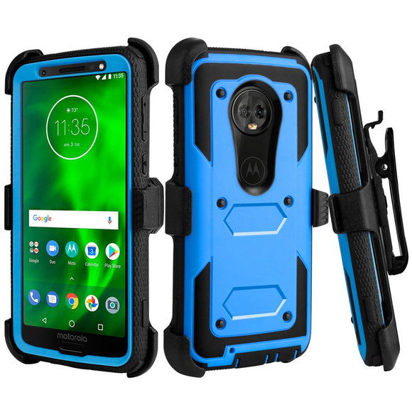 Case For Motorola Moto G6 Heavy Duty Hybrid Rugged Case Anti Drop Impact Protective Belt Clip Holster Cover For Motorola Moto G6