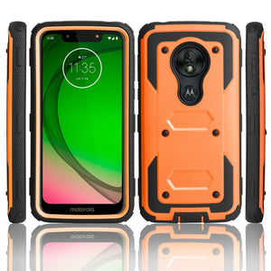 For Motorola Moto G7/Plus Armor Case Shockproof Belt Clip Holster Hard Cover G7 Play USA version/ G7 Power USA version