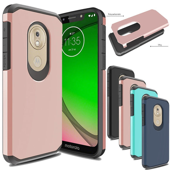 For Motorola Moto Cover G7 Play USA version Armor Case Shockproof Protective Soft TPU & Hard Back cover