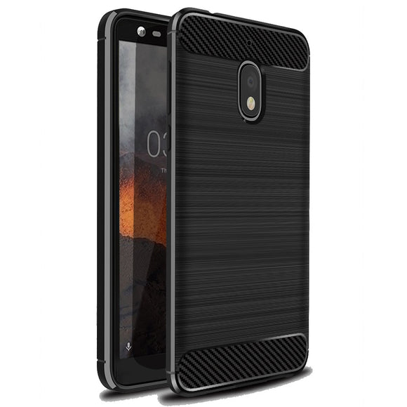 For Nokia 2.1/2v Case Carbon Fiber Brushed TPU Gel Case Ultra Thin Anti Drop/Scratch/Dust Soft Back Cover For Nokia 2.1 2V 2018
