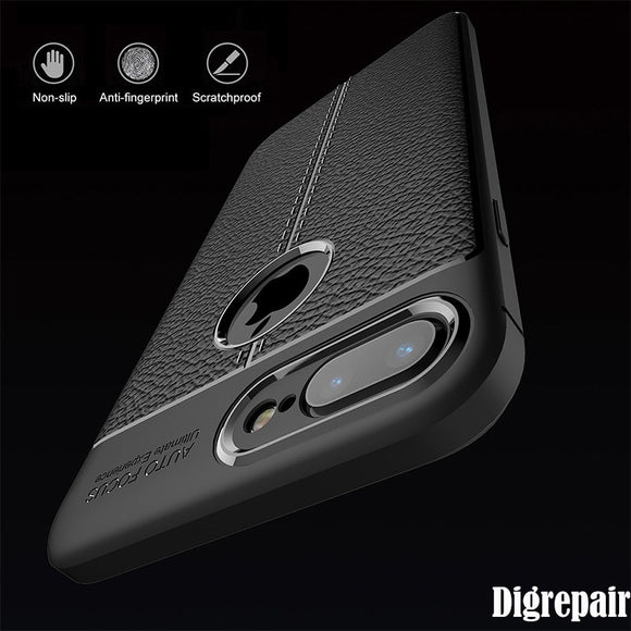 Case For iPhone 6 Case Business Leather Silicone Soft TPU Case For iPhone 7 8 6 6s Plus XR XS MAX 5 5s se Luxury Case Back Cover