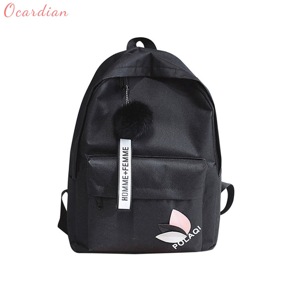 OCARDIAN Backpack female women's backpack 2018 Neutral Backpacks Bag Shoulder Canvas School Girls Drop shipping         A0917#25
