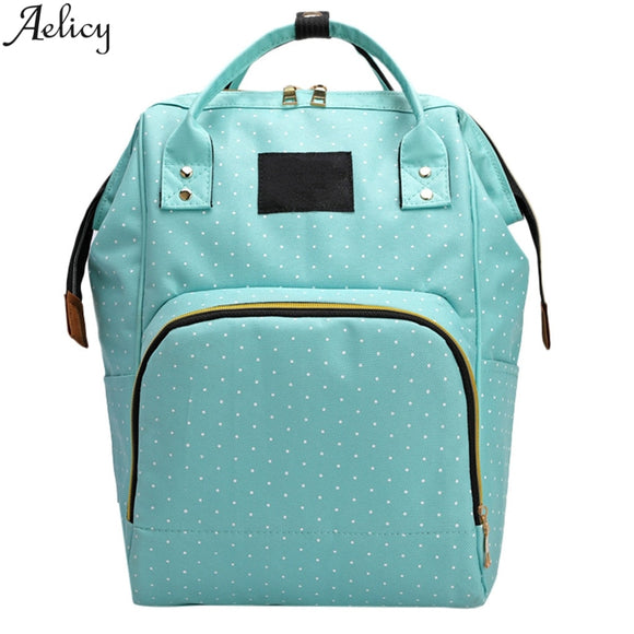 Aelicy Fashion Large Capacity Panelled Dot Oxford Backpack Casual Multifunctional Nursing Bagtraveling Shoulder Backpack Mochila