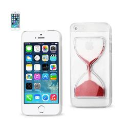 REIKO IPHONE SE/ 5S/ 5 3D SAND CLOCK CLEAR CASE IN RED