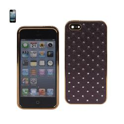 REIKO IPHONE 5/5S/SE JEWELRY DIAMOND STUDS CASE IN DARK PURPLE