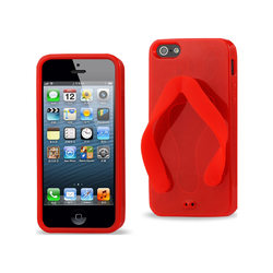 REIKO IPHONE SE/ 5S/ 5 SILICONE SLIPPER SANDAL CASE IN RED