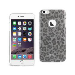 REIKO IPHONE 6 PLUS/ 6S PLUS SHINE GLITTER SHIMMER LEOPARD HYBRID CASE IN SILVER