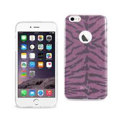 REIKO IPHONE 6 PLUS/ 6S PLUS SHINE GLITTER SHIMMER TIGER STRIPE HYBRID CASE IN PURPLE