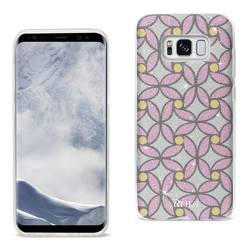 REIKO SAMSUNG GALAXY S8 EDGE/ S8 PLUS SHINE GLITTER SHIMMER FLOWER HYBRID CASE IN FLOWER PINK