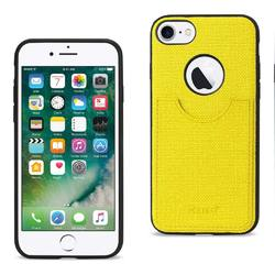 REIKO IPHONE 7 ANTI-SLIP TEXTURE PROTECTOR COVER WITH CARD SLOT IN YELLOW