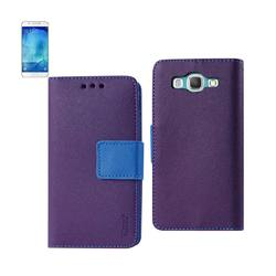 REIKO SAMSUNG GALAXY A8 3-IN-1 WALLET CASE IN PURPLE
