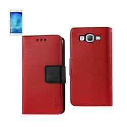 REIKO SAMSUNG GALAXY A8 3-IN-1 WALLET CASE IN RED