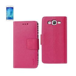 REIKO SAMSUNG GALAXY A8 3-IN-1 WALLET CASE WITH INNER ZEBRA PRINT IN HOT PINK