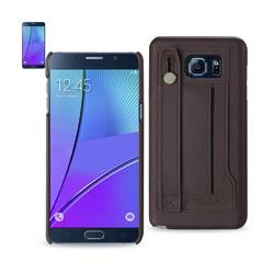 REIKO SAMSUNG GALAXY NOTE 5 GENUINE LEATHER HAND STRAP CASE IN UMBER