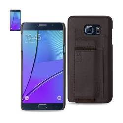 REIKO SAMSUNG GALAXY NOTE 5 RFID GENUINE LEATHER CASE PROTECTION AND KEY HOLDER IN UMBER