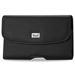 SAMSUNG GALAXY NOTE I9220/ N7000 HORIZONTAL POUCH MADE OF SMOOTH LEATHER WITH PHONE COVER IN BLACK