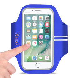 REIKO RUNNING SPORTS ARMBAND FOR IPHONE 7 PLUS/ 6S PLUS OR 5.5 INCHES DEVICE IN BLUE (5.5x5.5 INCHES)