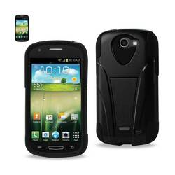 REIKO SAMSUNG GALAXY EXPRESS HYBRID HEAVY DUTY CASE WITH KICKSTAND IN BLACK