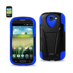 REIKO SAMSUNG GALAXY EXPRESS HYBRID HEAVY DUTY CASE WITH KICKSTAND IN NAVY BLACK