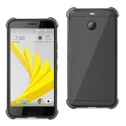REIKO HTC BOLT CLEAR BUMPER CASE WITH AIR CUSHION PROTECTION IN CLEAR BLACK