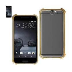 REIKO HTC ONE A9 MIRROR EFFECT CASE WITH AIR CUSHION PROTECTION IN CLEAR GOLD