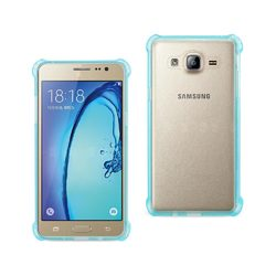 REIKO SAMSUNG GALAXY ON5/ J5 CLEAR BUMPER CASE WITH AIR CUSHION SHOCK ABSORPTION IN CLEAR NAVY