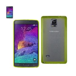 REIKO SAMSUNG GALAXY NOTE 4 CLEAR BACK FRAME BUMPER CASE IN GREEN
