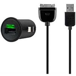 Belkin F8Z689-BBY Micro Rapid Car Charger for Apple iPad - Black