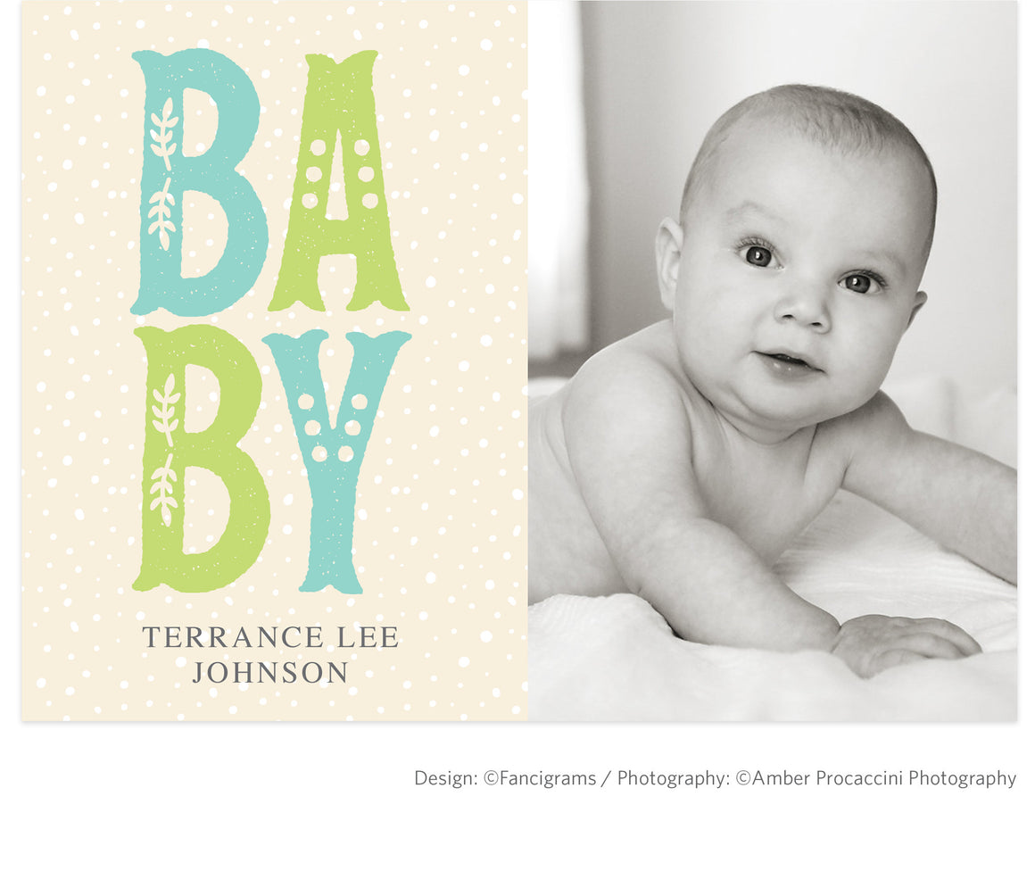 Birth Announcement template \\\\ BABY (Boy) - Fancigrams