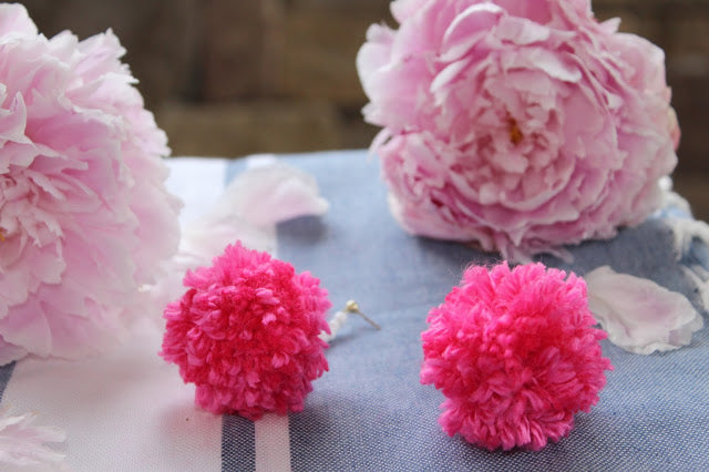 DIY Pom-Pom Earrings