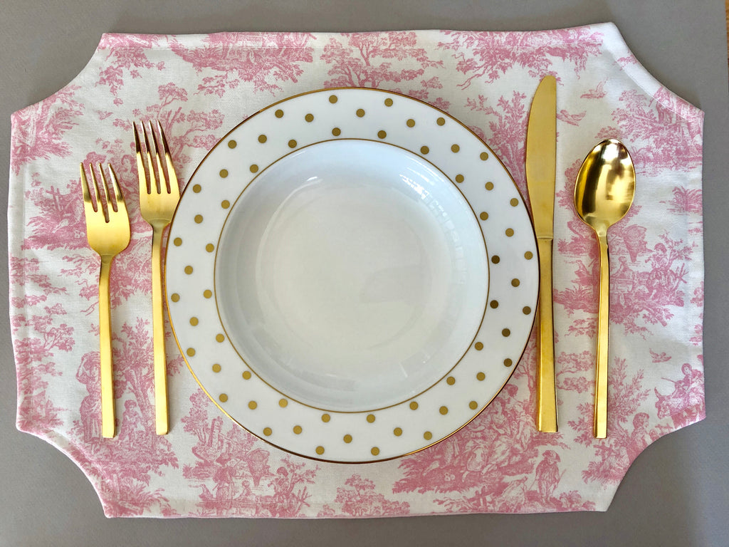 Toile & Buffalo Check Placemats