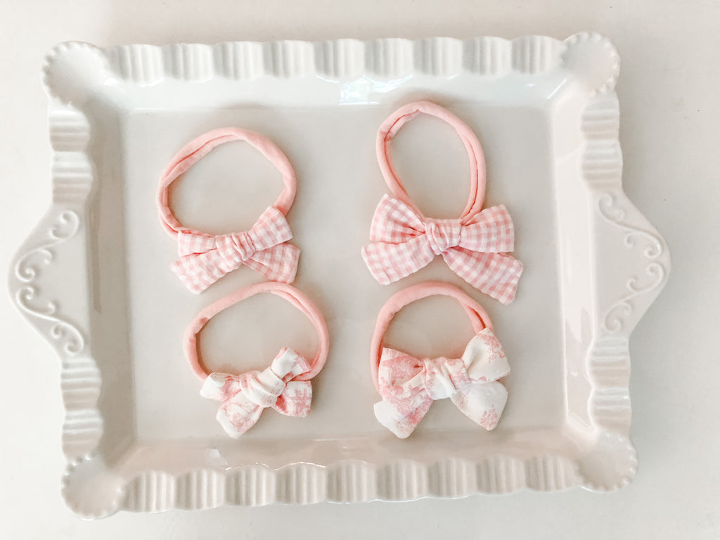 Baby Bows w/Clip or Nylon Band