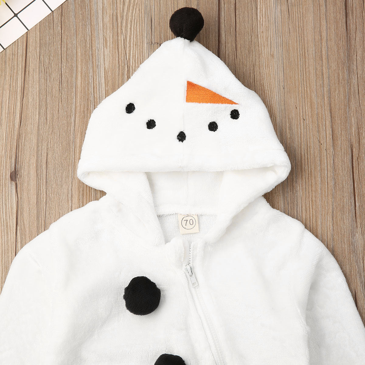 0 3Years Toddler Newborn Kid Baby Boy Girl Christmas Rompers Snowman Plush Long Sleeve Jumpsuit