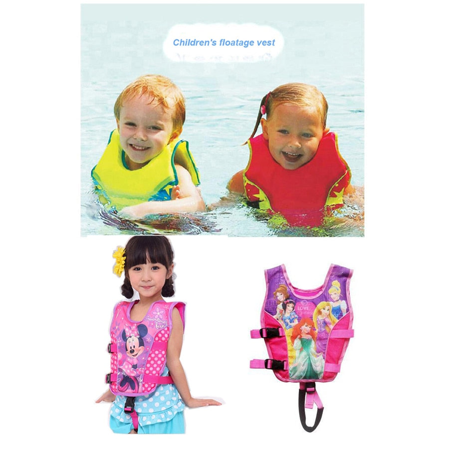 2 6 Years Baby Swim Vest Float Kid Swim Trainer Boy Girl Buoyancy