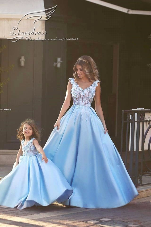Family Matching Wedding Dress for Mother Daughter Clothes Mum Mom and Daughter Dress Princess Party