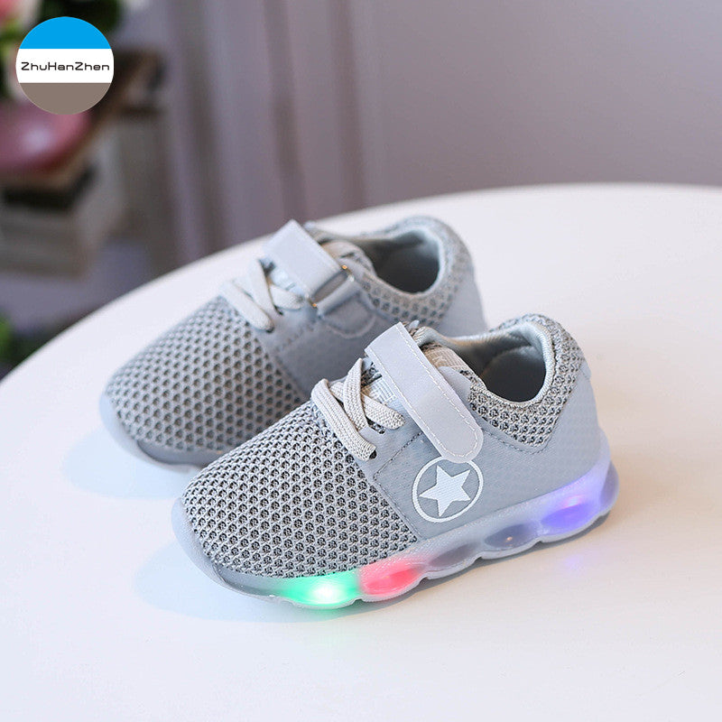 2018 LED light up baby shoes boys and girls soft bottom