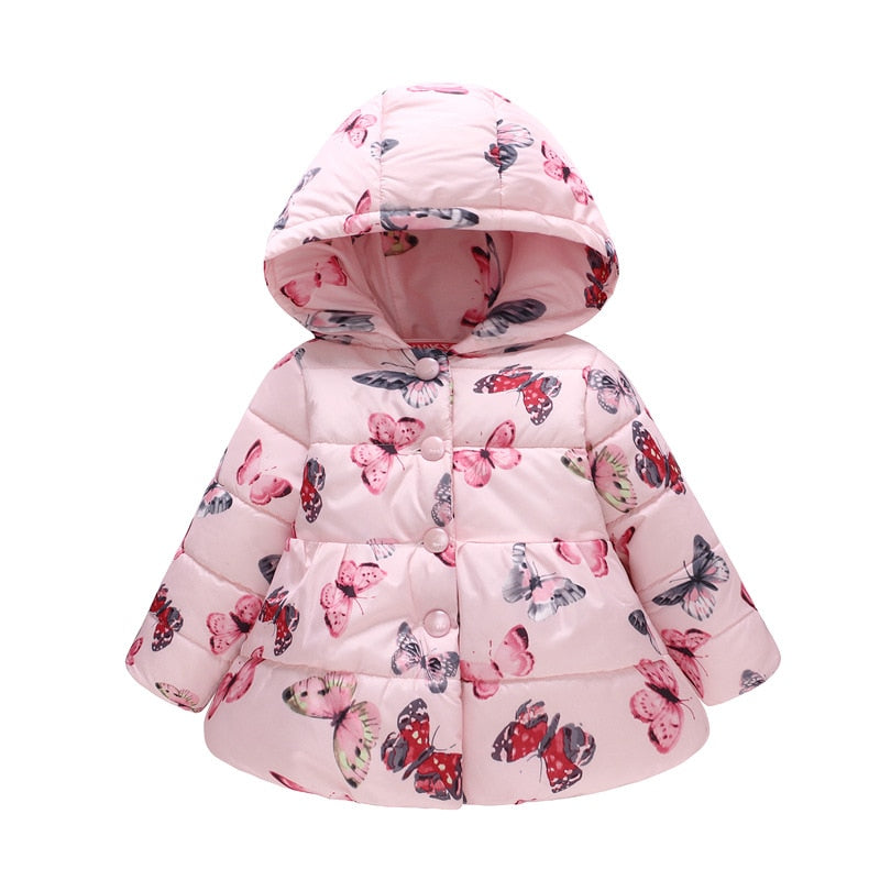 Kids Toddler Baby Boy Girl Winter Warm Cotton Down Hooded Coat Jacket Outwear M