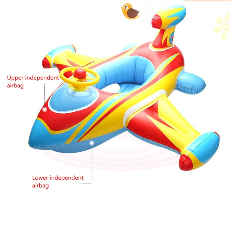 Baby Float Awning Sunshade Toddler Infant Baby Inflatable Car Swimming Seat Ring Thicken PVC Swimming Pool Accessories for Kids