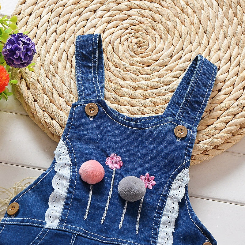 Baby Girls Jeans Jumpsuit Denim Overalls Toddler Girl Pants Rompers