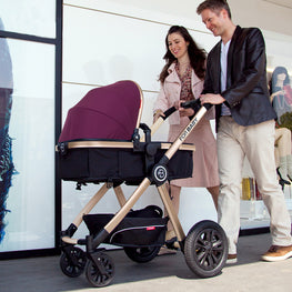 Baby Stroller 3 in 1 High Landscape Baby Carriages with Baby Car Seat