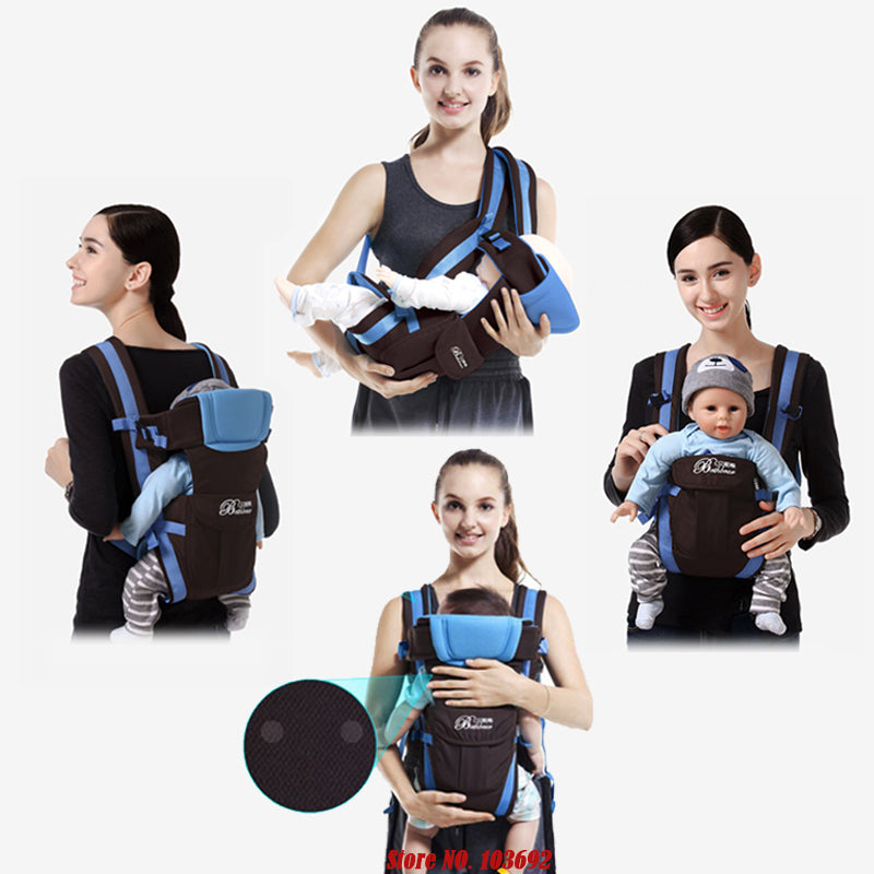 0-30 Months Breathable Front Facing Baby Carrier 4 in 1 Infant Comfortable Slin