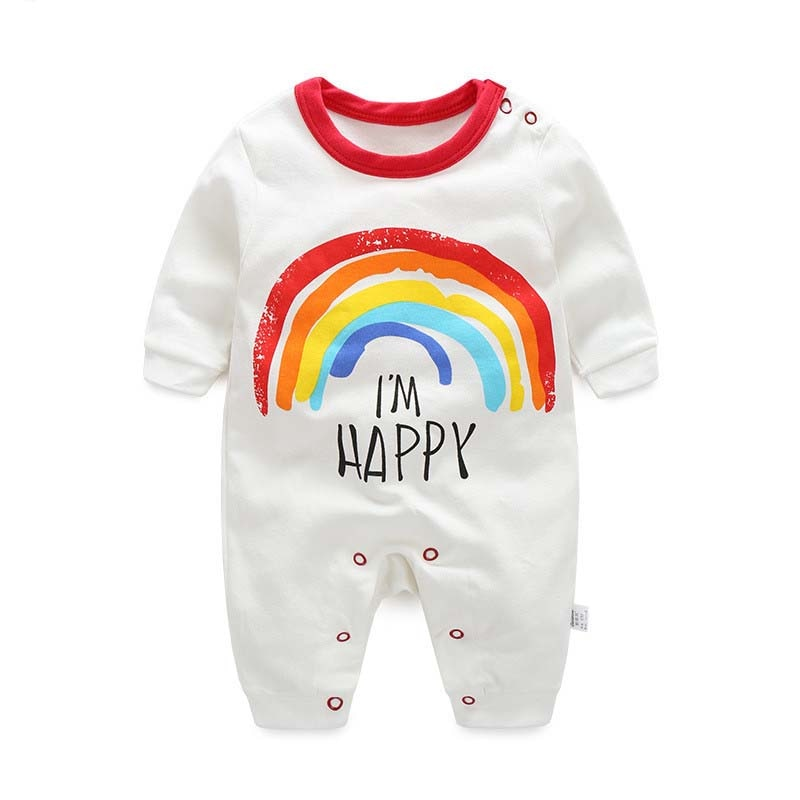 BibiCola spring autumn newborn baby rompers girls boys cotton long-sleeved baby rompers infant baby onesies children out clothes