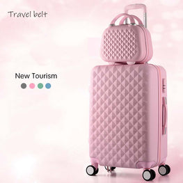Cartoon Plaid fashion 20/22/24/26/28 inch Rolling Luggage Spinner Brand Suitcase Wheels Carry