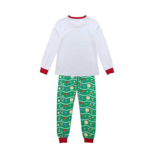 Children Adult Family Matching Christmas Pajamas Sleepwear Nightwear Pyjamas Set  Family Matching Outfits