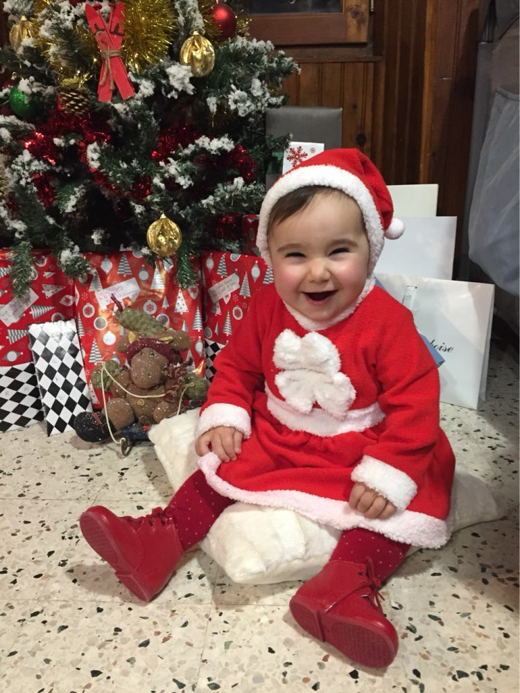 Christmas baby girls dress with free hat