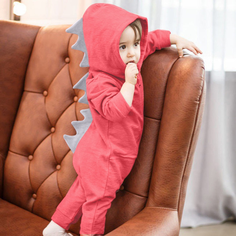 Baby Girls Boys Infant Baby Girls Boys Dinosaur Hoodie Romper